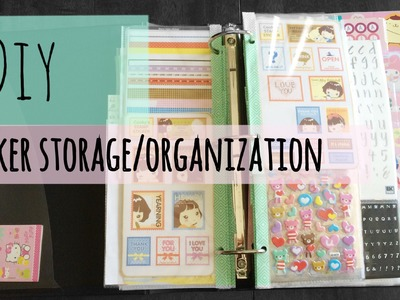 DIY Sticker Storage and Organization (Tutorial)