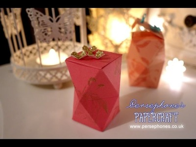 Double Layered Multifaceted Gift Box | Stampin' Up (UK) with Persephone's Papercraft