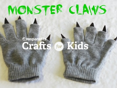 Easy No-Sew Monster Claws | Halloween Crafts for Kids | PBS Parents