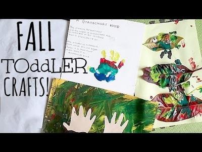 FALL TODDLER CRAFTS!