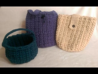 Free Crochet Tuscany Bag. Purse Tutorial Part 2