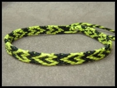 ► Friendship Bracelet Tutorial - Beginner - Hollow Heart Pattern