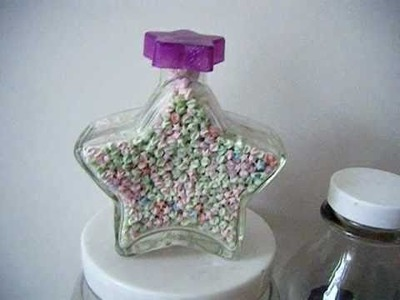 Glow in the Dark Origami Stars in Star Shaped Bottle Hand made