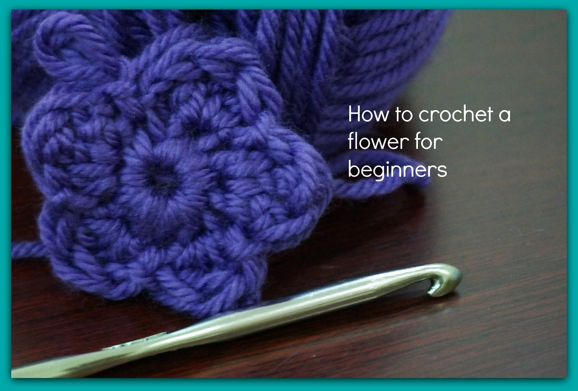 How To Crochet Basics : How to crochet a flower for beginners, My Crafts and DIY Projects