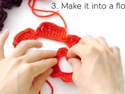 How to Crochet Flowers- Rose