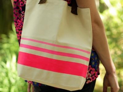 How to Dress Up a Tote Bag || KIN DIY