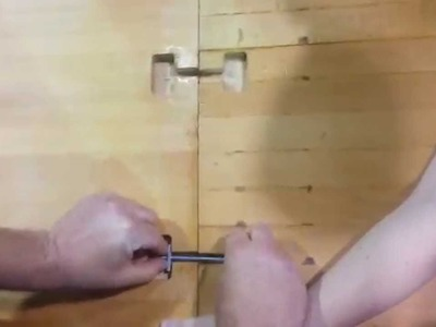 How to Install Toggle Bolts in a Wood Countertop