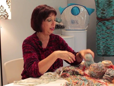 How to Knit a Scarf With Scraps : Knitting Lessons