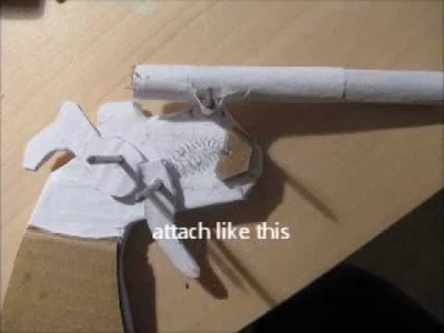 How to make a fully working papercraft gun
