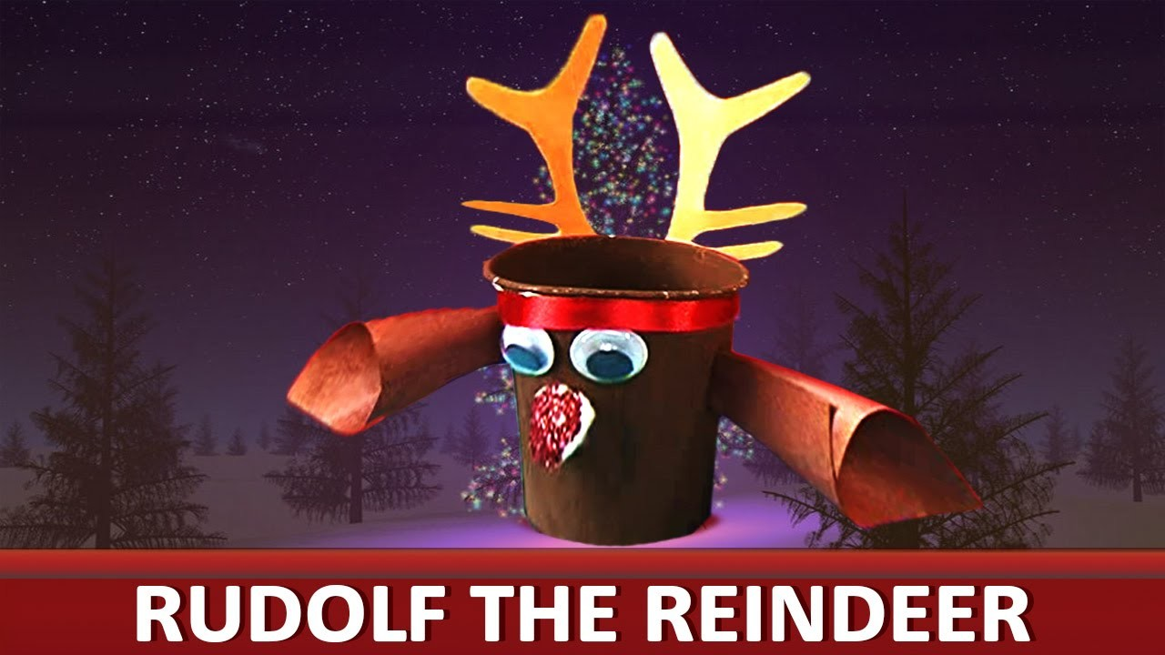 How To Make A Paper Cup Rudolf Paper Art And Craft Ideas