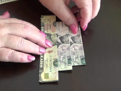 How to Make an Easy to fold Money Origami Cake
