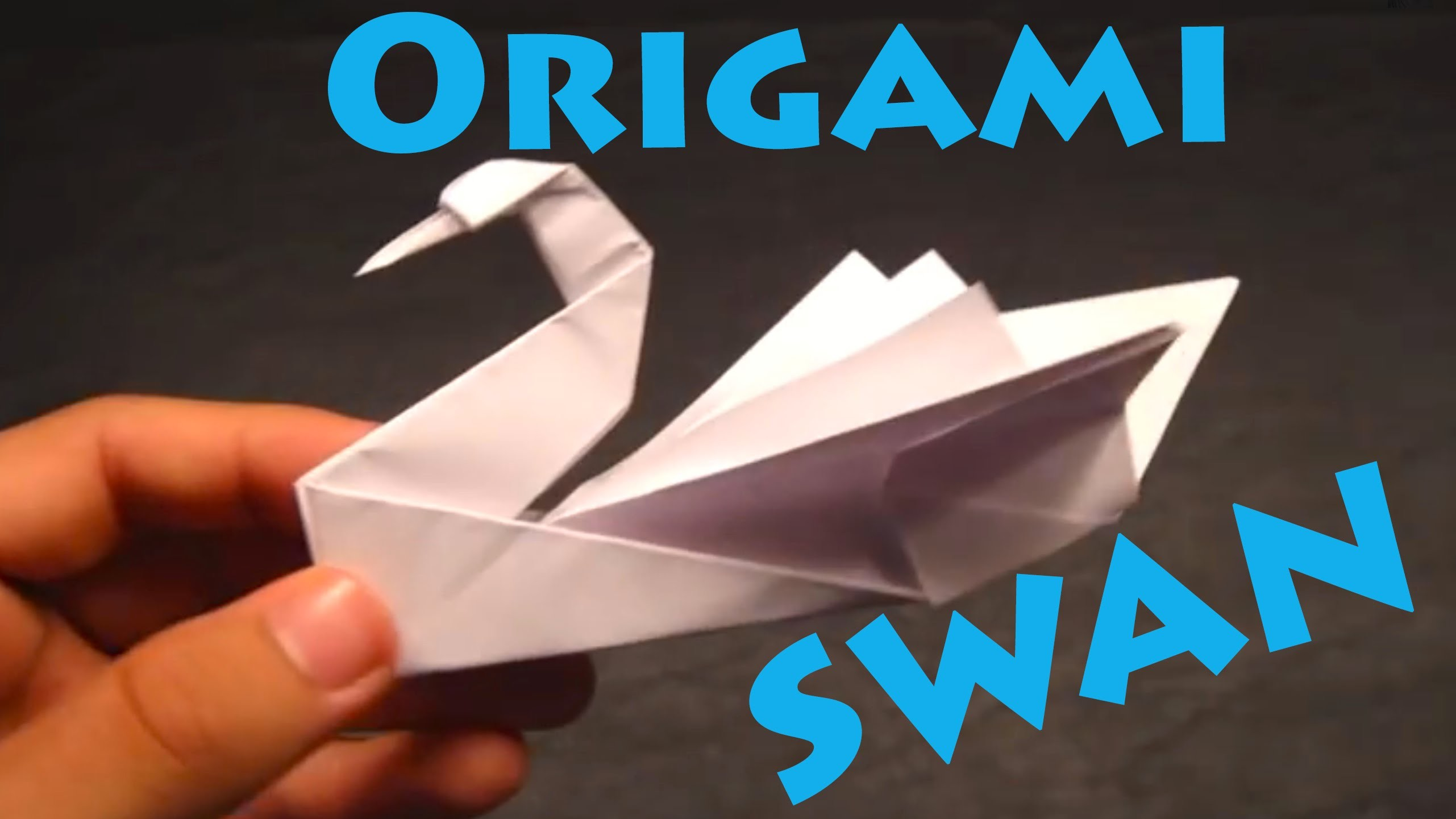 How to Make an Origami Swan (Intermediate)