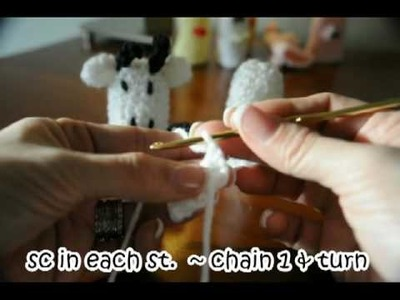 How to make crochet COW Finger Puppet #1