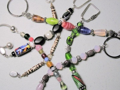 How to make jewelry: Beaded Keychain