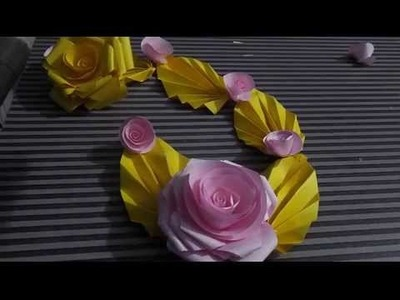 How to make Paper flowers at home( Decartion)Easy Tutorials 2015 DIY
