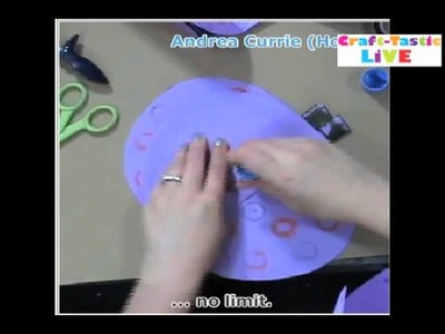 How To Make Paper Stand out pumpkin craft for Halloween! Andrea Currie Crafts