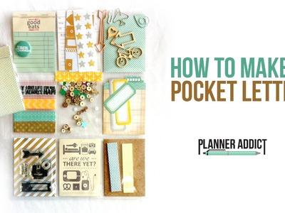 How to Make Pocket Letters- DIY Pocket letter pals