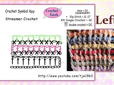 Left Hand Streamer Crochet Square Crochet Geek