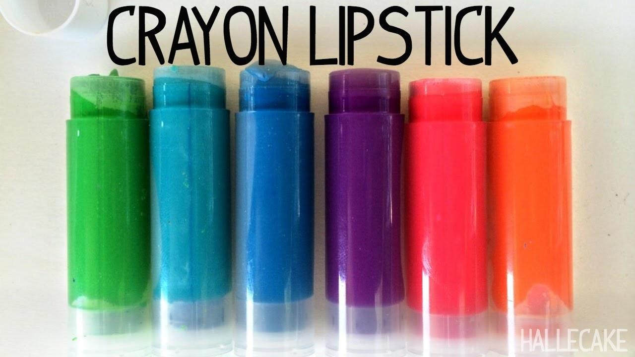 Make Your Own Crayola Lipstick ~ Crafts With Hallecake