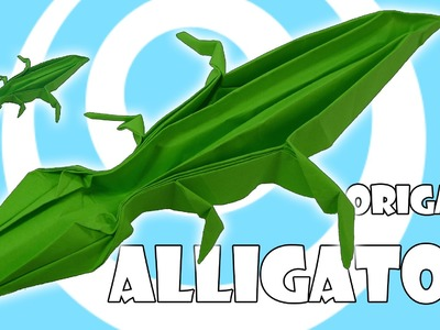 Origami Alligator (Crocodile) Tutorial (Ashimura Shunichi)