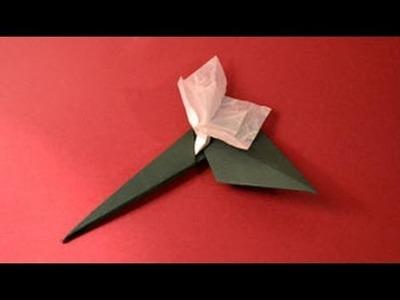 Origami Stem & Leaf Instructions: www.Origami-Fun.com