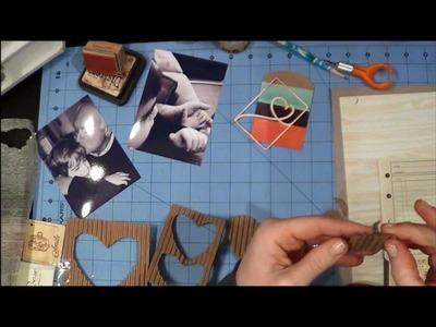 Pure joy, Smile, LOVED.  Scrapbook Tutorial by LBD Kit Club's DT Member, Jenni, March 2013 kit