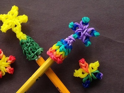 Rainbow Loom Star Pencil Topper (Loom Bands)