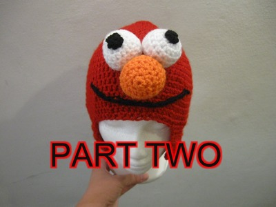 Red Mo Monster Crochet Beanie Tutorial pt 2