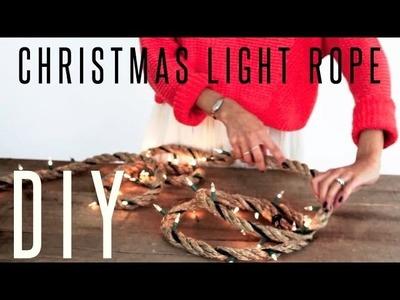 Rope Christmas Lights DIY. Treasures & Travels Blog