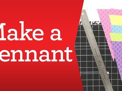 Scrapbooking Basics: Make a Pennant