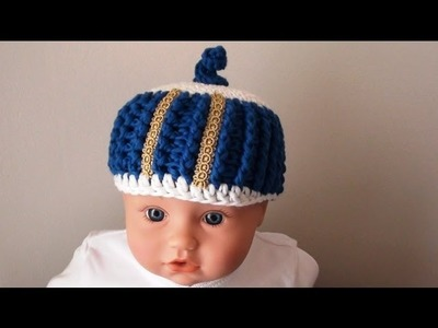 The Royal Crochet Newborn Baby Beanie