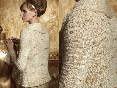 #15 Pleat Collar Jacket, Vogue Knitting Holiday 2010