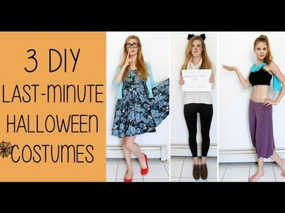 3 DIY Last Minute Halloween Costumes