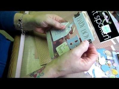 Baby Mini Album Tutorial (Kathy Orta Style) ☆ Handicraft Ideas