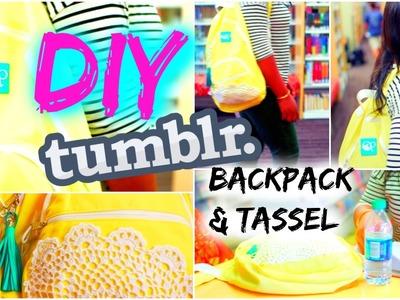 Back to School♡DIY Tumblr Backpack & Fringe Tassel!