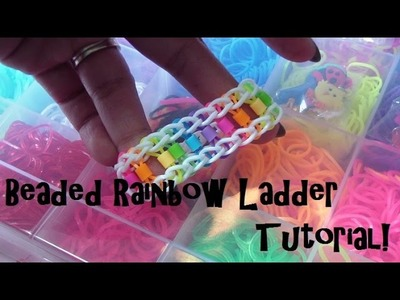 Beaded Rainbow Ladder Loom Bracelet Tutorial (Talented Kidz Bands)!