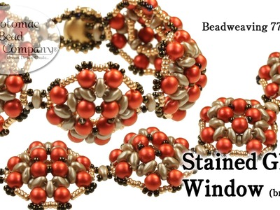 Beadweaving 771 - Stained Glass Window Bracelet
