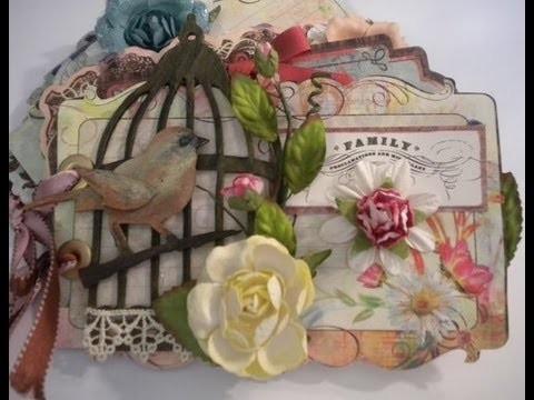 Birdcage Mini Album - Scrapbook Album