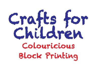 Block printing crafts for children