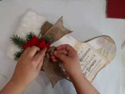 Christmas Stocking and Mini scrapbook