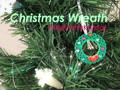 Christmas Wreath- Perler bead tutorial