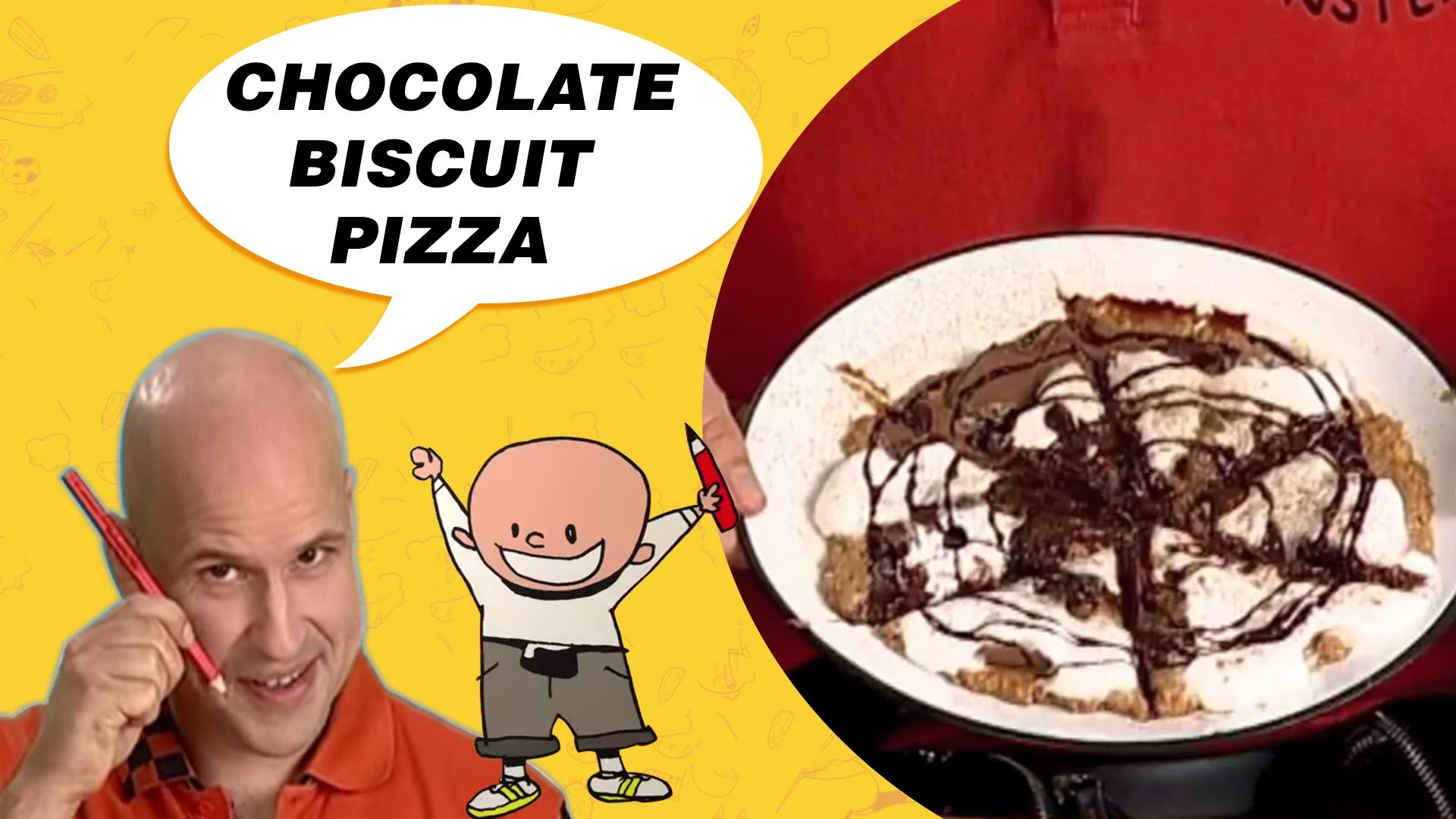 Crafts Ideas for Kids - Chocolate Biscuit Pizza | DIY on BoxYourSelf