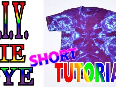 DIY 6 Point 1 Color Tie Dye Shirt [Quick Tutorial]