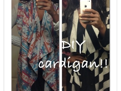 DIY Aztec Tribal Cardigan Sweater Refashion Upcycle Fall 2013 Fashion Trend