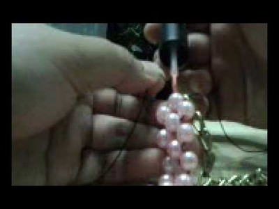 "DIY chain & pearl necklace ""super easy to make"""