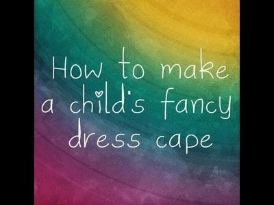 Diy child's cape