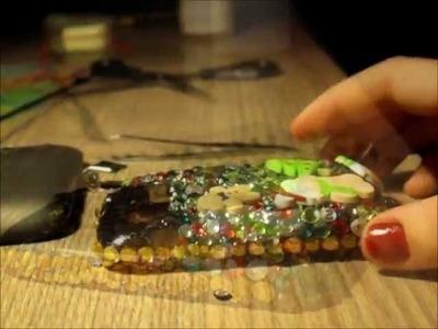 DIY Deco-Den Tutorial: How to Deco a Bling Christmas Phone Case