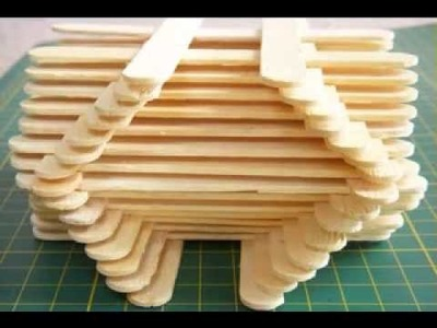 DIY Ice cream stick craft making ideas