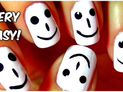 Diy Nails Designs Easy - Smiley Face Nail Art
