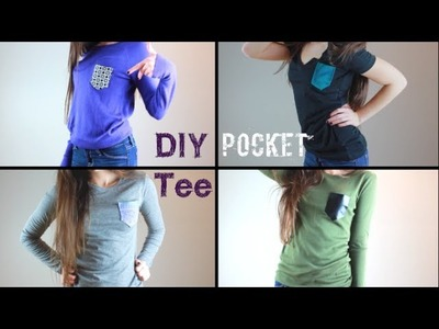 DIY Pocket Tees: Spice Up Your Plain Shirts! (No-Sew)